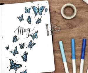 art, journal, and blue image
