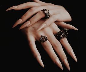 moda, rosa, and nails image
