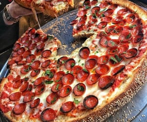 pizza, yummy, and foody image