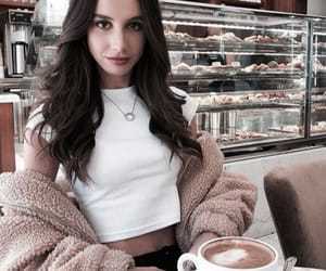 bakery, brunette, and coffee image