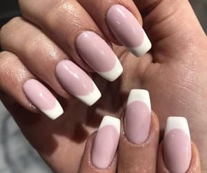 nails, french nails, and nailsofinstagram image