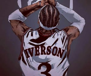 iverson, fanart, and NBA image