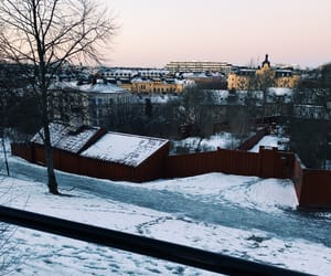 snow, winter, and stockholm image