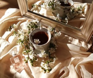 flowers, beauty, and coffee image