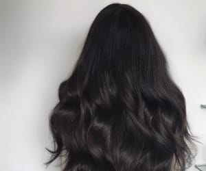 black hair, long hair, and black long hair image
