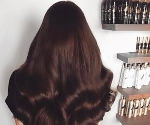 long hair, wavy hair, and dark brown hair image