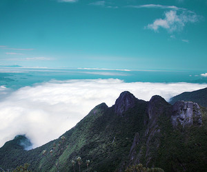 blue, clouds, and mountains image