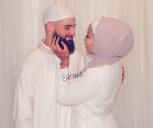 couple, islam, and beauty image