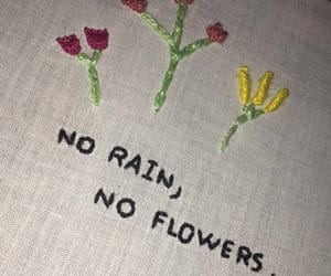 embroidery, flowers, and knit image