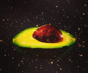 avocado, Collage, and space image