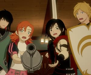 weapons, anime people, and rwby image