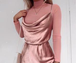 fashion, dress, and handbag image