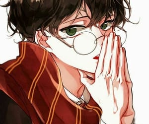 anime and harry potter image