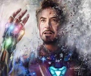 art, hero, and iron man image