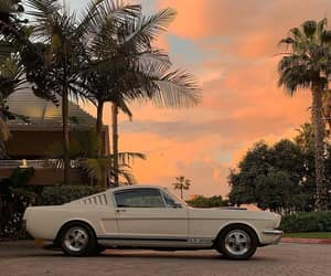 car, sunset, and aesthetic image