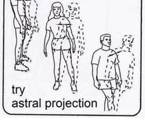 meme, aesthetic, and astral projection image