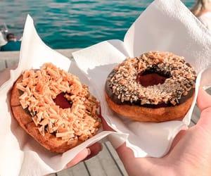 caramel, chocolate, and donut image