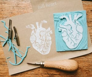 anatomical heart, biology, and etsy image
