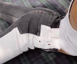 black, denim, and jeans image