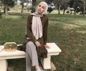hijab, outfit, and islam image