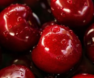 red, cherry, and fruit image