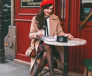 beret, fashion, and french image