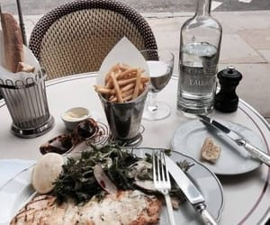 food, fries, and lunch image