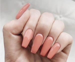 nails, Nude, and peachy image