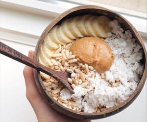 inspo, oatmeal, and yummy image
