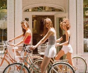 girl, aesthetic, and bike image