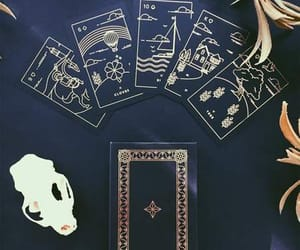 cards, dark, and evil image