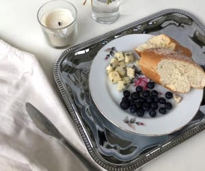 butter, blueberries, and food image