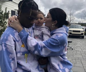 kylie jenner, travis scott, and family image