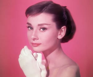 audrey hepburn and pink image