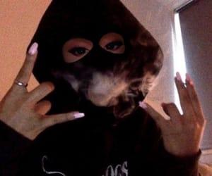 girl, smoke, and nails image