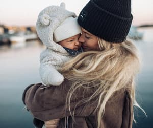 baby, mother, and sweet image