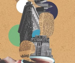 background, coffee, and new york city image