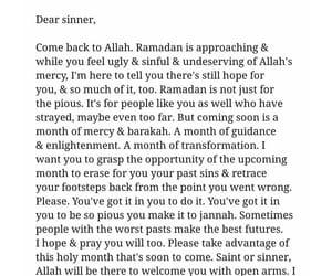 allah, Ramadan, and sinner image