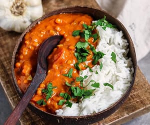 curry, food, and rice image