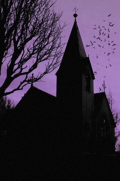 church, dark, and Halloween image
