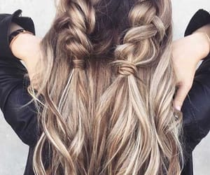 braid, hairstyle, and blonde image
