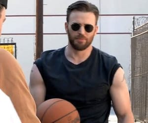 chris evans, actor, and Basketball image