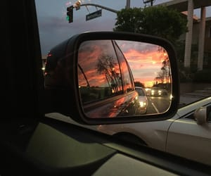 aesthetic, car, and sunset image