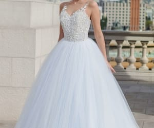 ball gown, dress, and wedding dress image