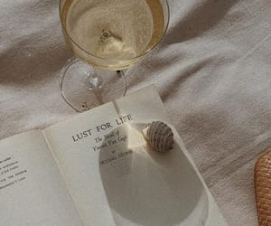 book, drink, and novel image