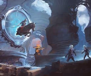 alien, futuristic, and explorers image