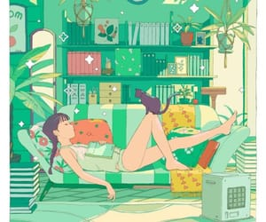 green, illustration, and aesthetic image