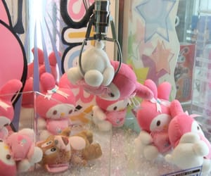 claw machine, pink, and ピンク image