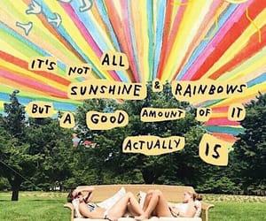 rainbow and sunshine image