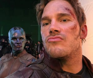 chris pratt, karen gillan, and peter quill image